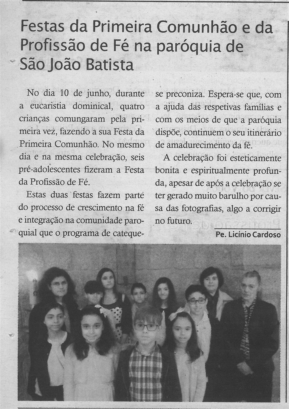 TV-jul.'18-p.18-Festas da Primeira Comunhão e da Profissão de Fé na Paróquia de São João Batista.jpg