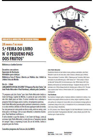 AgendaRBM-abr.-jun.'18-p.11-Biblioteca Municipal de Sever do Vouga : 5.ª Feira do Livro n'O pequeno país dos frutos.JPG