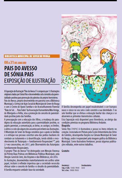 AgendaRBM-jan.-mar.'18-p.3-Biblioteca Municipal de Sever do Vouga : Pais do Avesso, de Sónia Pais : exposição de ilustração.JPG