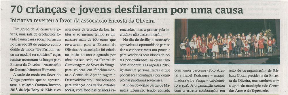 TV-nov.'18-p.12-70 crianças e jovens desfilaram por uma causa : iniciativa reverteu a favor da Associação Encosta da Oliveira.jpg