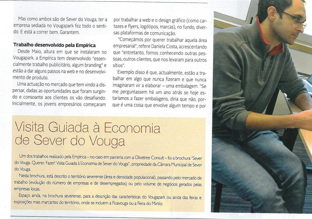 DA-04jan.'15-sup.,p.20-Empírica faz uso e abuso da criatividade [3.ª parte de seis] : Daniela Costa e Tiago Martins criaram, em Sever do Vouga, a Empírica.jpg