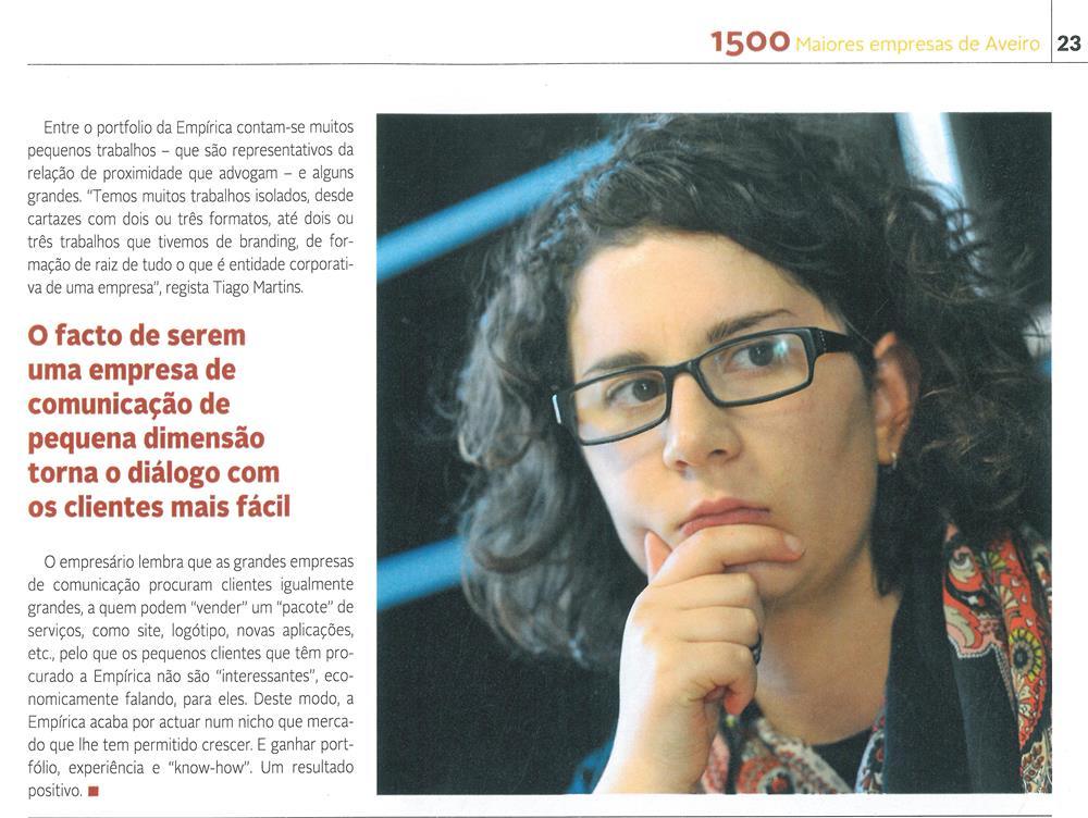 DA-04jan.'15-sup.,p.23-Empírica faz uso e abuso da criatividade [6.ª parte de seis] : Daniela Costa e Tiago Martins criaram, em Sever do Vouga, a Empírica.jpg