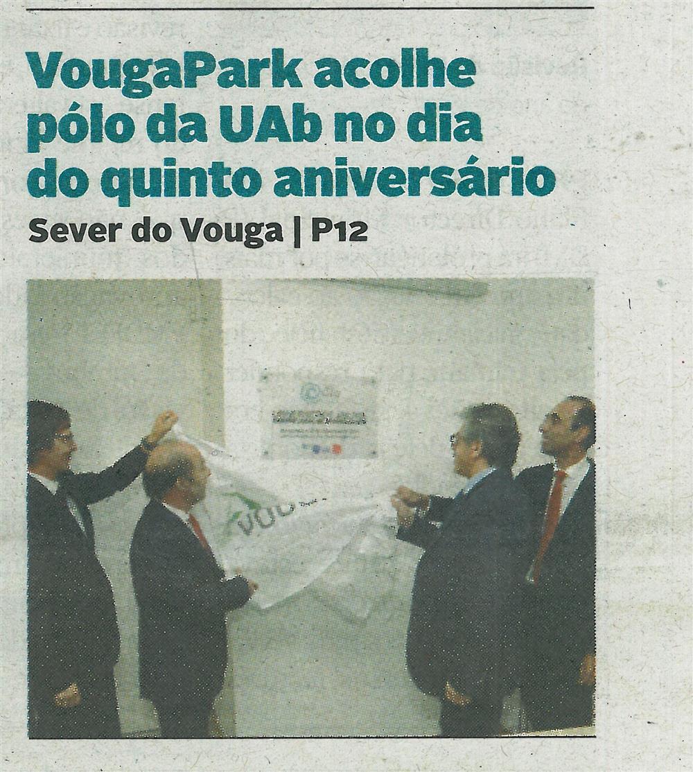 DA-01dez.'18-p.1-VougaPark acolhe Pólo da UAb no dia do quinto aniversário.jpg