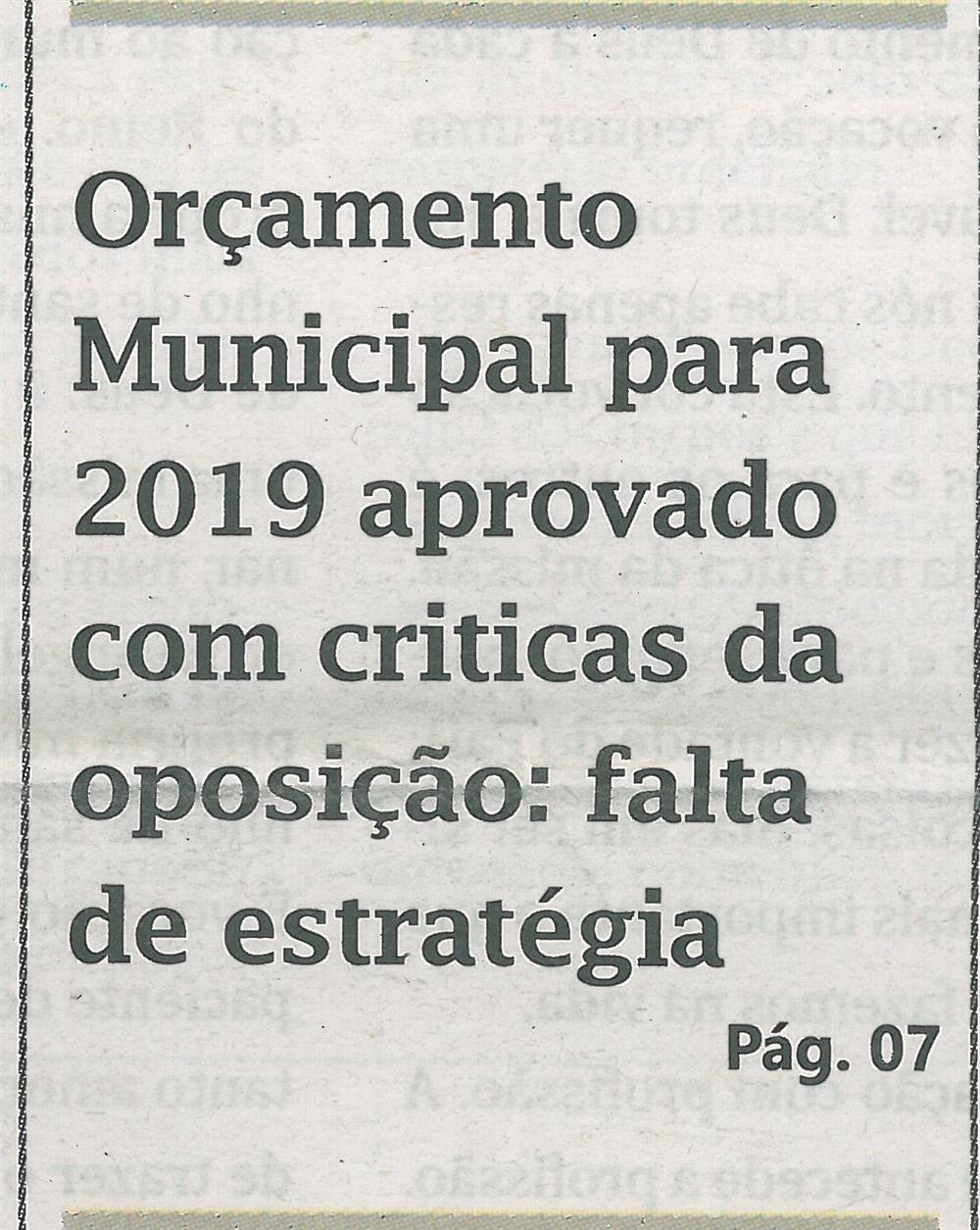 Orçamento Municipal  para 2019 aprovado com criticas da oposição.jpg