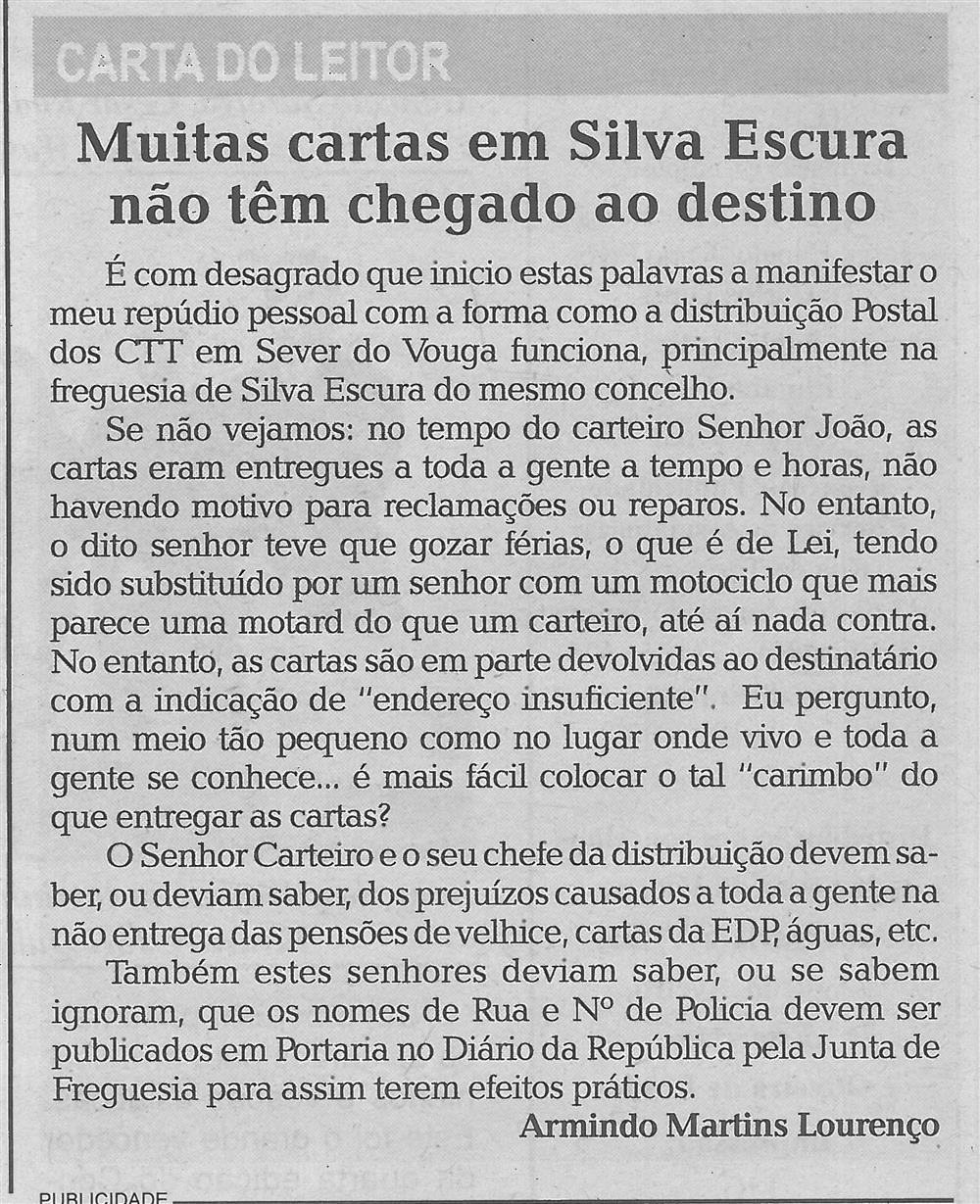 Muitas cartas em Silva Escura não têm chegado ao destino.jpg