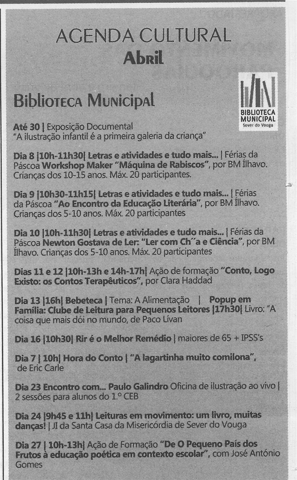 TV-abr.'19-p.11-Agenda Cultural [de] abril : Biblioteca Municipal.jpg