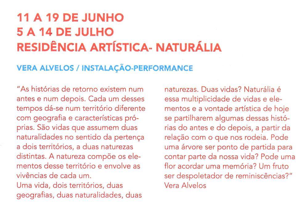 AgCultCAE-01abr.'19-p.23-Residência artística : Naturália : Vera Alvelos : instalação performance.jpg