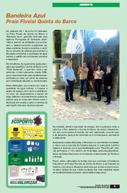 BoletimMunicipal-nº 31-nov'14-p.5-Bandeira Azul : Praia Fluvial Quinta do Barco.JPG