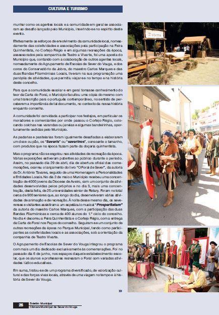 BoletimMunicipal-nº 31-nov'14-p.26-Comemorações dos 500 anos de atribuição do Foral a Sever do Vouga [2.ª parte de três] : cultura e turismo.JPG