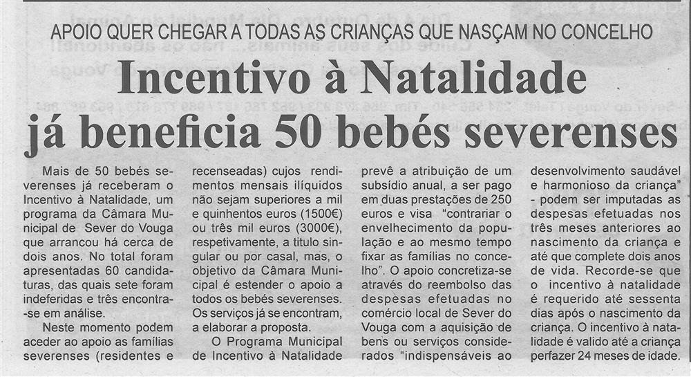 BV-1.ªout.'19-p.2-Incentivo à natalidade já beneficia 50 bebés severenses : apoio quer chegar a todas as crianças que nasçam no Concelho.jpg