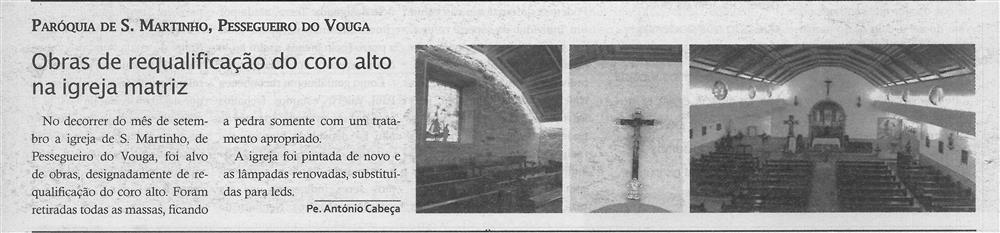 TV-out.'19-p.15-Obras de requalificação do coro alto na Igreja Matriz : Paróquia de S. Martinho, Pessegueiro do Vouga : Paróquias e Freguesias.jpg