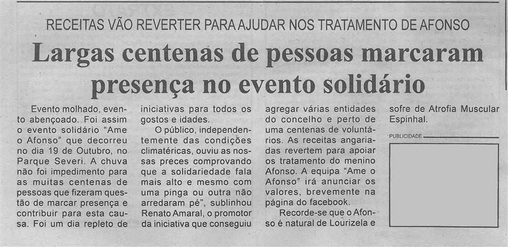 BV-1.ªnov.'19-p.3-Largas centenas de pessoas marcaram presença no evento solidário : receitas vão reverter para ajudar nos tratamentos de Afonso.jpg