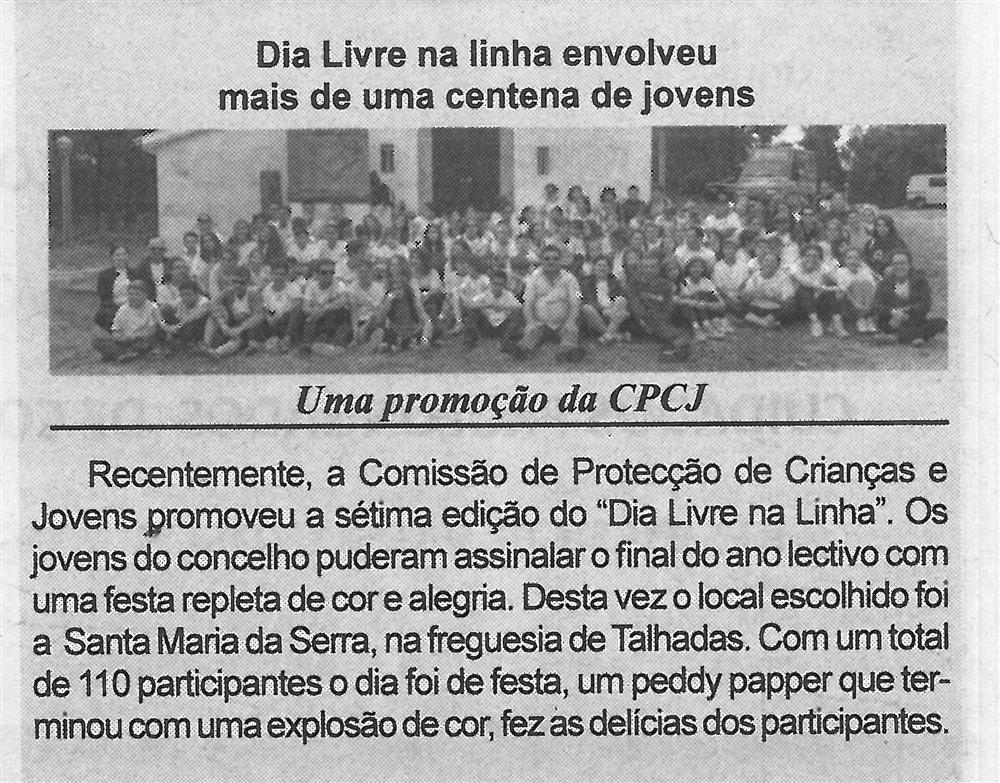 BV-1.ªago.'17-p.10-Dia Livre na Linha envolveu mais de uma centena de jovens : uma promoção da CPCJ.jpg