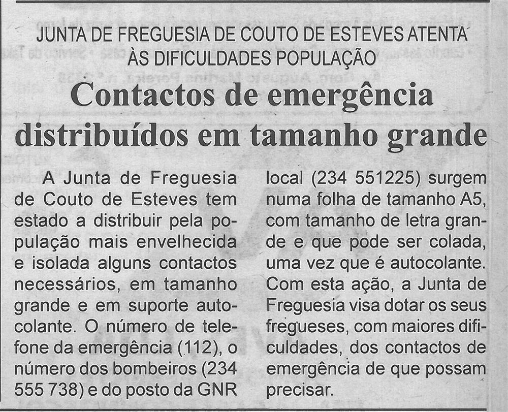 BV-2.ªjan.'20-p.2-Contactos de emergência distribuídos em tamanho grande : Junta de Freguesia de Couto de Esteves atenta às dificuldades da população.jpg