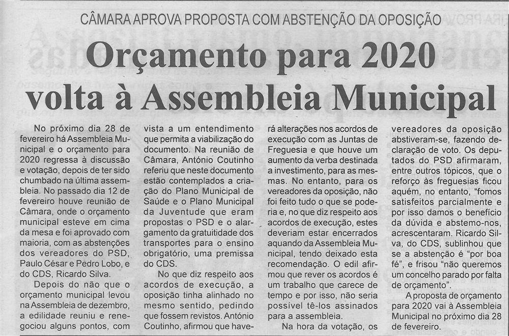 BV-2.ªfev.'20-p.3-Orçamento para 2020 volta à Assembleia Municipal : Câmara aprova proposta com abstenção da oposição.jpg