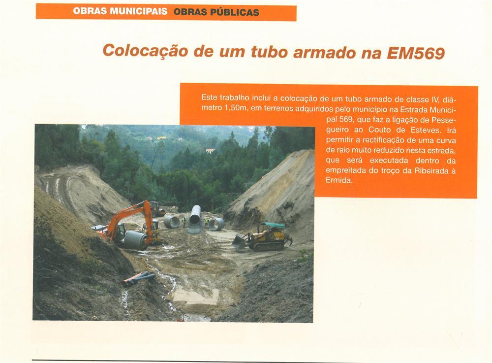 BoletimMunicipal-n.º 21-mar.'07-p.8-Obras Municipais : Obras Públicas : colocação de um tubo armado na EM569.jpg