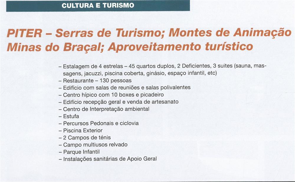 BoletimMunicipal-n.º 29-mar.'07-p.36-Cultura e turismo : PITER : Serras de Turismo, Montes de Animação, Minas do Braçal, aproveitamento turístico.jpg