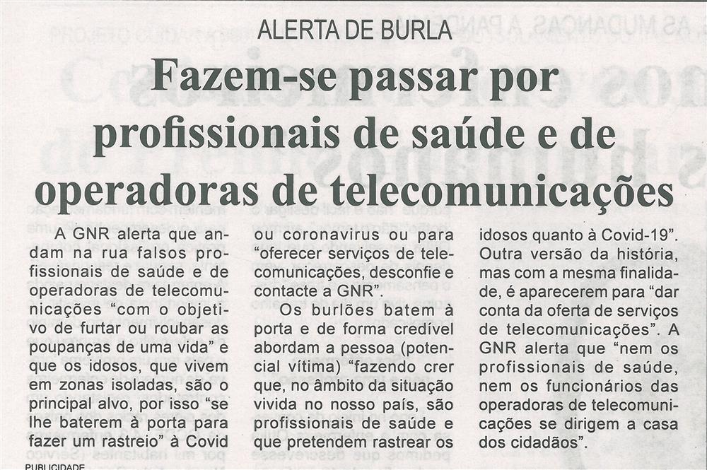 BV-1.ªmaio'20-p.9-Alerta de burla : fazem-se passar por profissionais de saúde e de operadoras de telecomunicações.jpg
