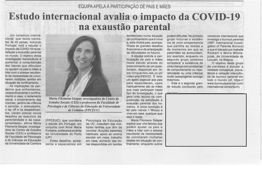 BV-1.ªmaio'20-p.15-Estudo internacional avalia o impacto da covid-19 na exaustão parental.jpg