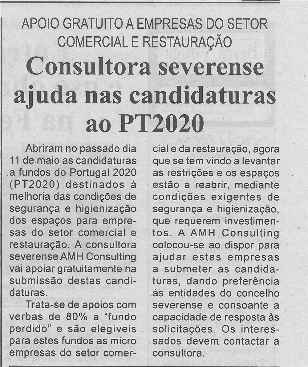 BV-2.ªmaio'20-p.3-Consultora severense ajuda nas candidaturas ao PT 2020 : apoio gratuito a empresas do setor comercial e restauração.jpg