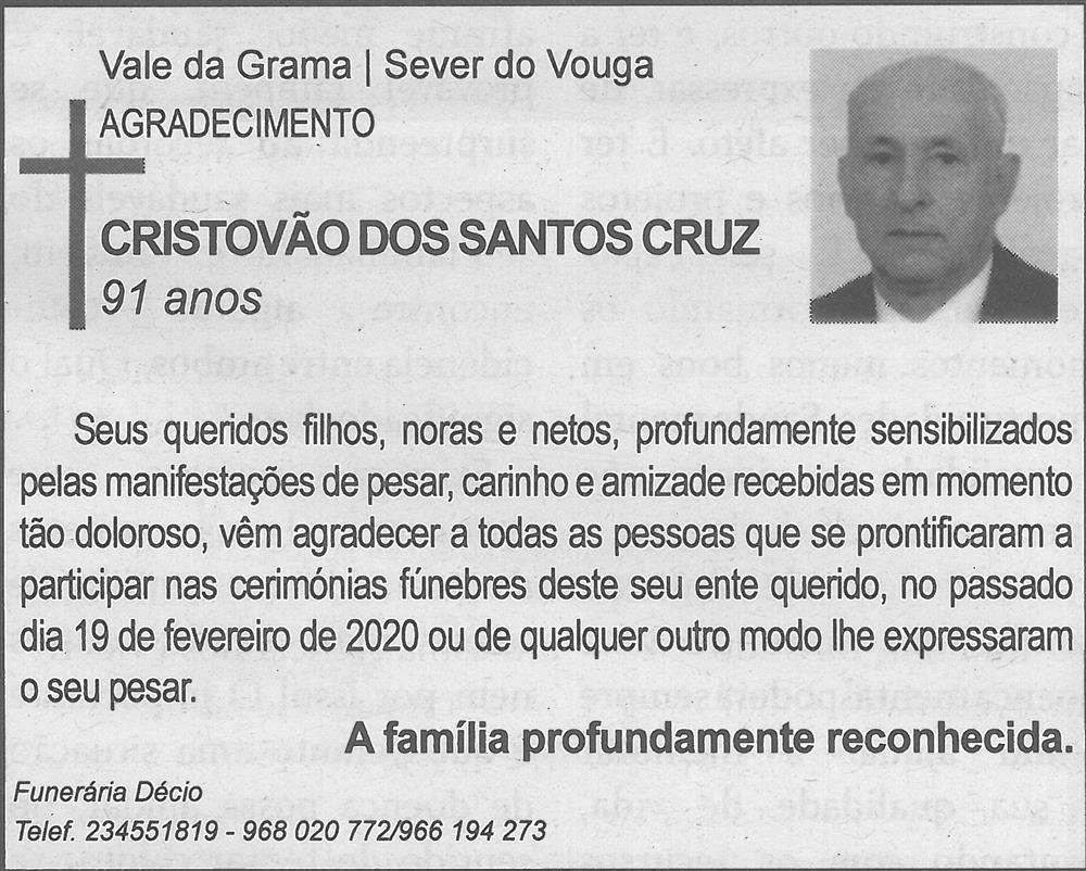TV-mar.'20-p.17-Cristóvão dos Santos Cruz : Vale da Granja, Sever do Vouga : agradecimento.jpg