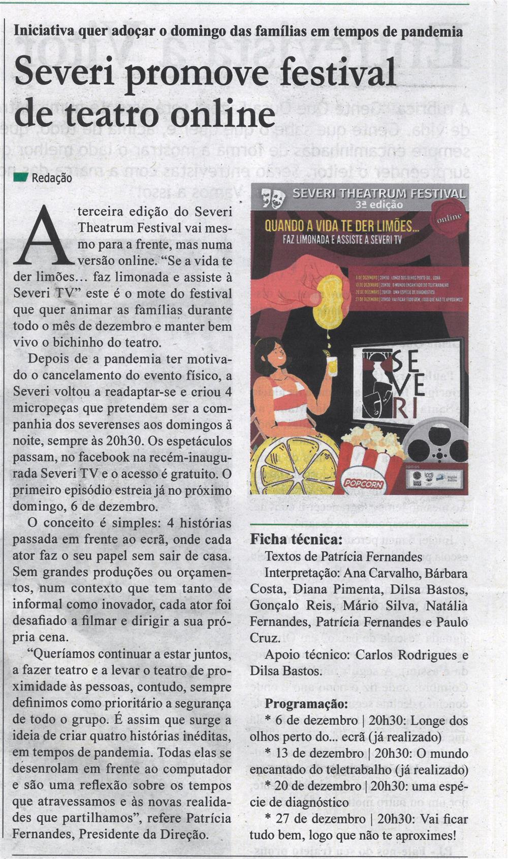 GB-17dez.'20-p.11-Severi promove festival de teatro online : iniciativa quer adoçar o domingo das famílias em tempos de pandemia.jpg
