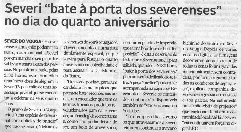 DA-25mar.'21-p.5-Severi bate à porta dos severenses no dia do quarto aniversário.JPG