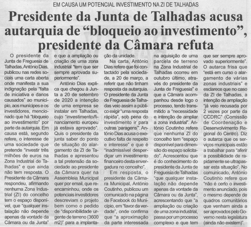 BV-1.ªabr.'21-p.2-Presidente da Junta de Talhadas acusa Autarquia de bloqueio ao investimento, Presidente da Câmara refuta.JPG