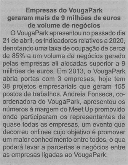 BV-1.ªmaio'21-p.6-Empresas do VougaPark geraram mais de 9 milhões de euros de volume de negócios.jpg