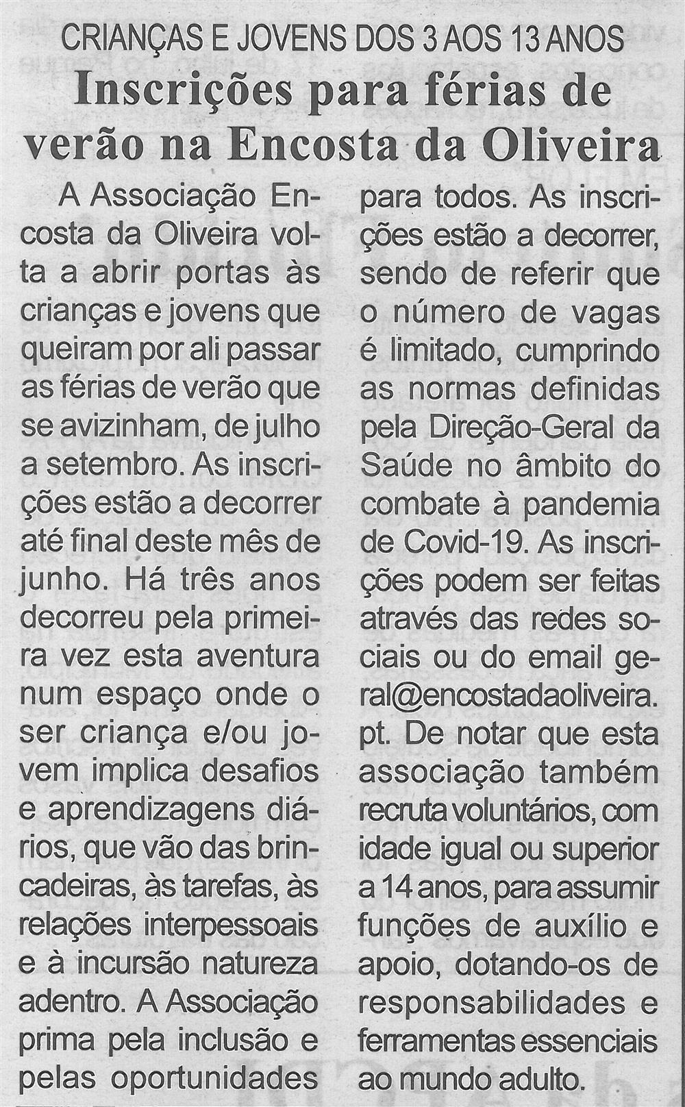 BV-2.ªjun.'21-p.7-Inscrições para férias de verão na Encosta da Oliveira : crianças e jovens dos 3 aos 13 anos.jpg