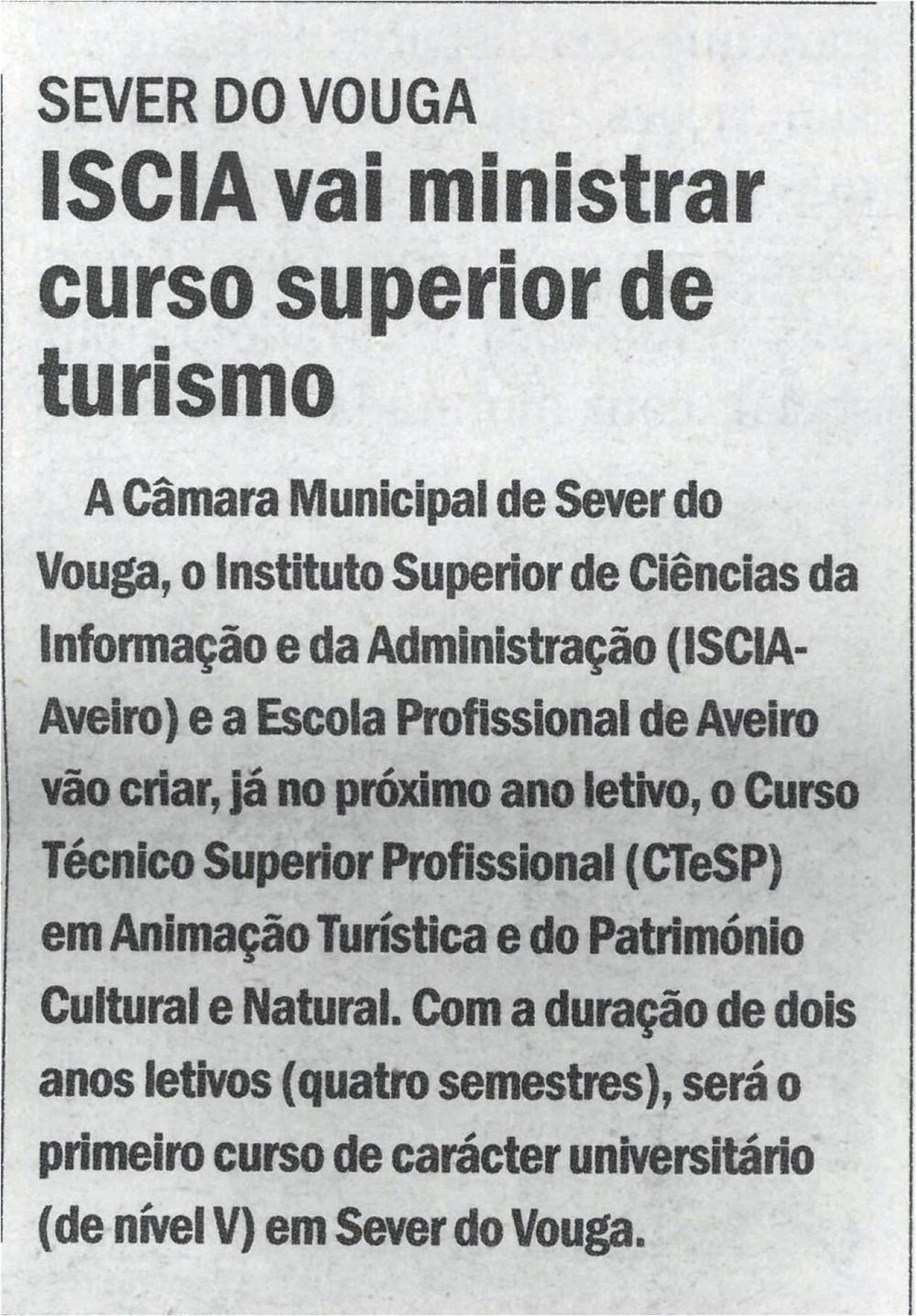 CV-21jul.'21-p.6-Sever do Vouga : ISCIA vai ministrar Curso Superior de Turismo.jpg
