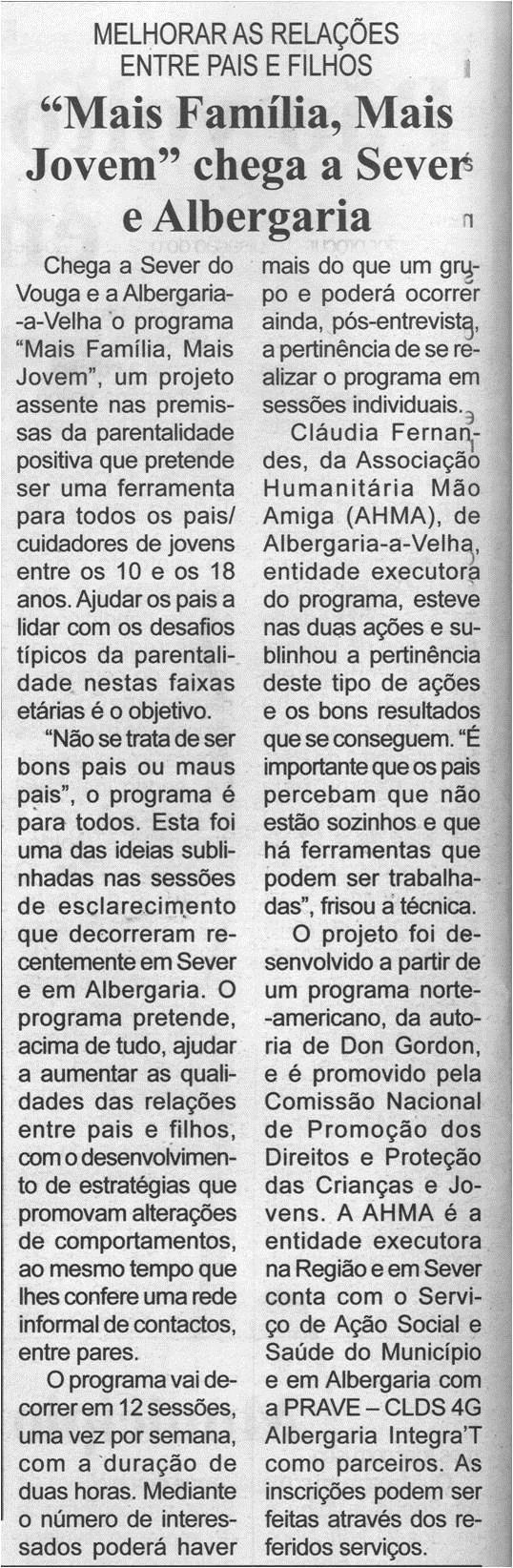 """BV-1.ªjul.'21-p.14-Melhorar as relações entre pais e filhos : """"Mais Família, Mais Jovem"""" chega a Sever e Albergaria.jpg"""