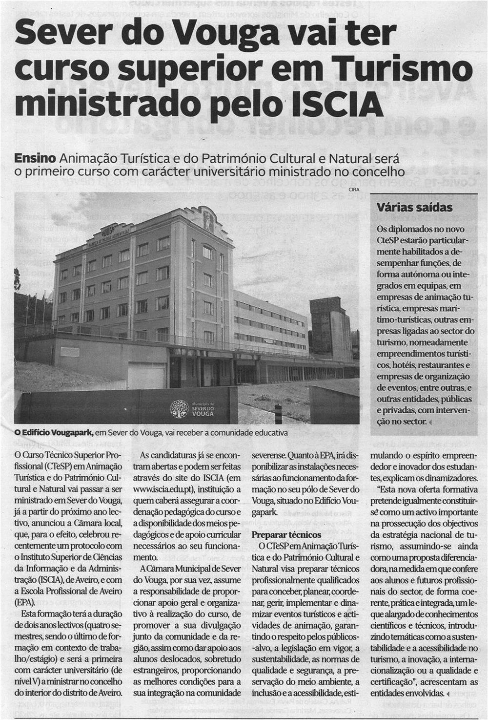 DA-16jul.'21-p.19-Sever do Vouga vai ter curso superior em Turismo ministrado pelo ISCIA.jpg