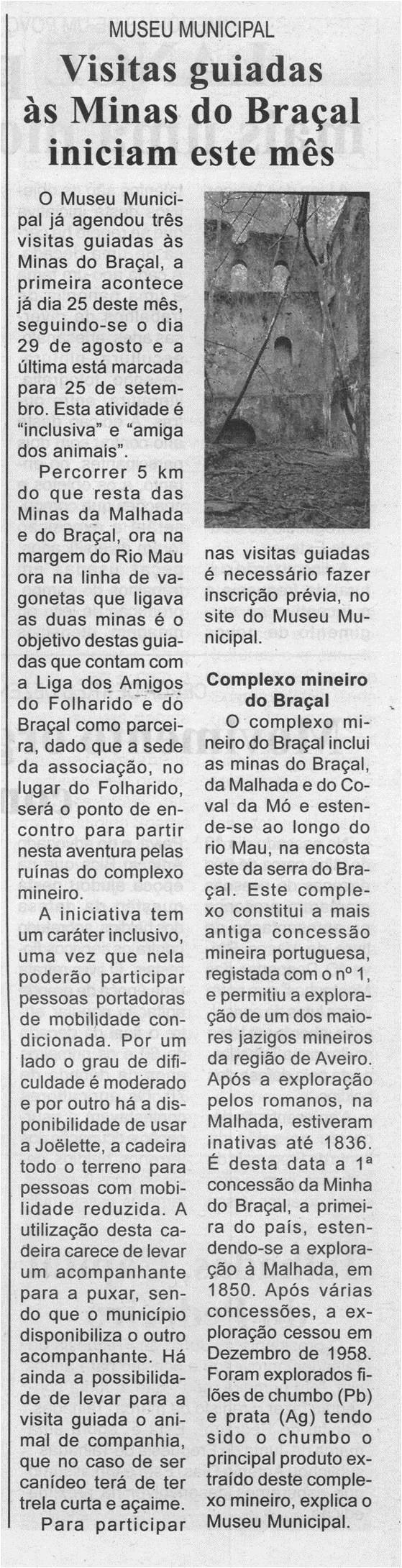 BV-2.ªjul.'21-p.3-Museu Municipal : visitas guiadas às Minas do Braçal iniciam este mês.jpg
