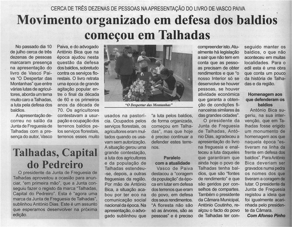 BV-2.ªjul.'21-p.4-Movimento organizado em defesa dos baldios começou em Talhadas - cerca de três dezenas de pessoas na apresentação do livro de Vasco Paiva.jpg
