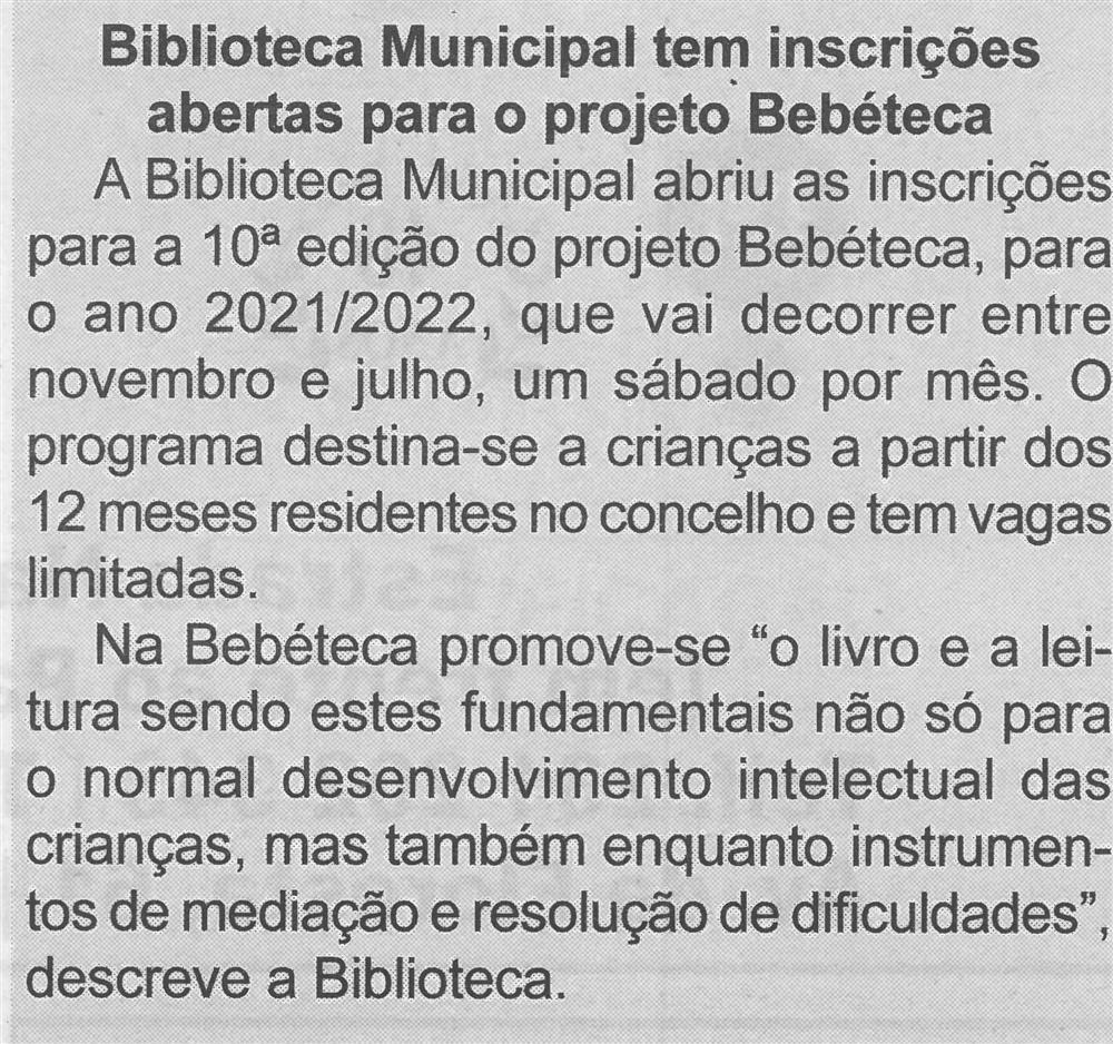 BV-Ano 59, n.º 1170 (1.ª quinzena out. 2021), p. 7-Biblioteca Municipal tem inscrições abertas para o projeto Bebéteca.jpg