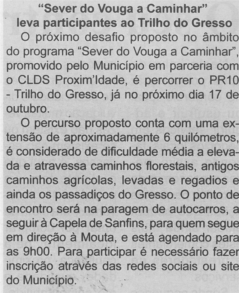 """BV-Ano 59, n.º 1170 (1.ª quinzena out. 2021), p. 7-""""Sever do Vouga a Caminhar"""" leva participantes ao Trilho do Gresso.jpg"""