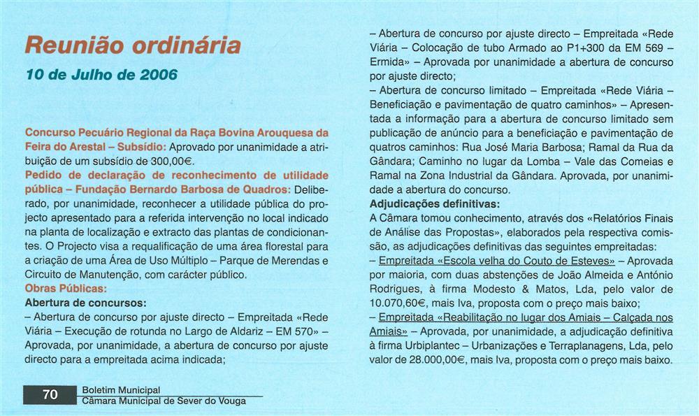 BoletimMunicipal-n.º 20-set.'06-p.70-Deliberações [1.ª de duas partes] : Reunião Ordinária : 10 de julho de 2006.jpg