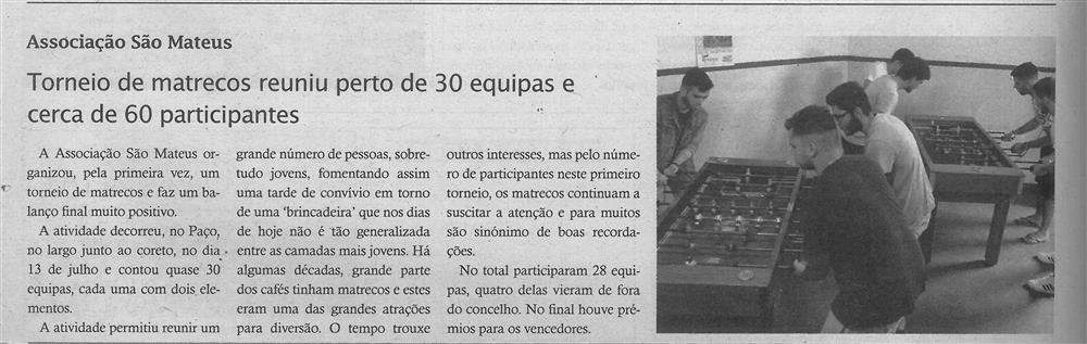 TV-ago.'19-p.16-Torneio de matrecos reuniu perto de 30 equipas e cerca de 60 participantes : Associação São Mateus : paróquias e freguesias : Paróquia de Santa Maria, Sever do Vouga.jpg