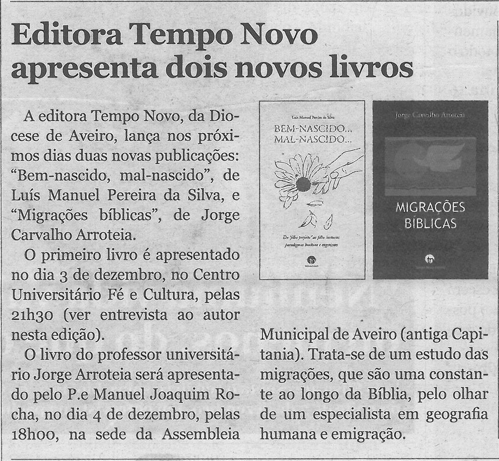 CV-27nov.'19-p.2-Editora Tempo Novo apresenta dois novos livros.jpg