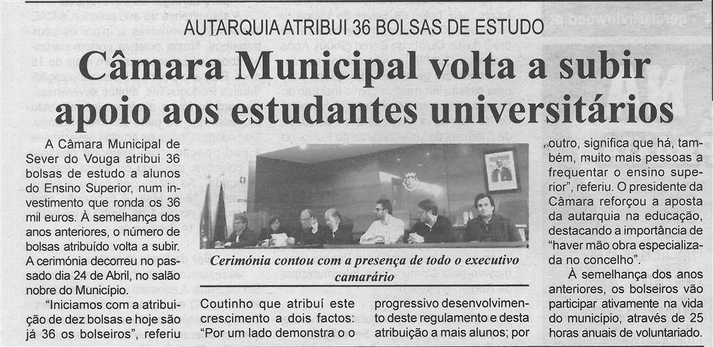 BV-1.ªmaio'19-p.3-Câmara Municipal volta a subir apoio aos estudantes universitários : Autarquia atribui 36 bolsas de estudo.jpg