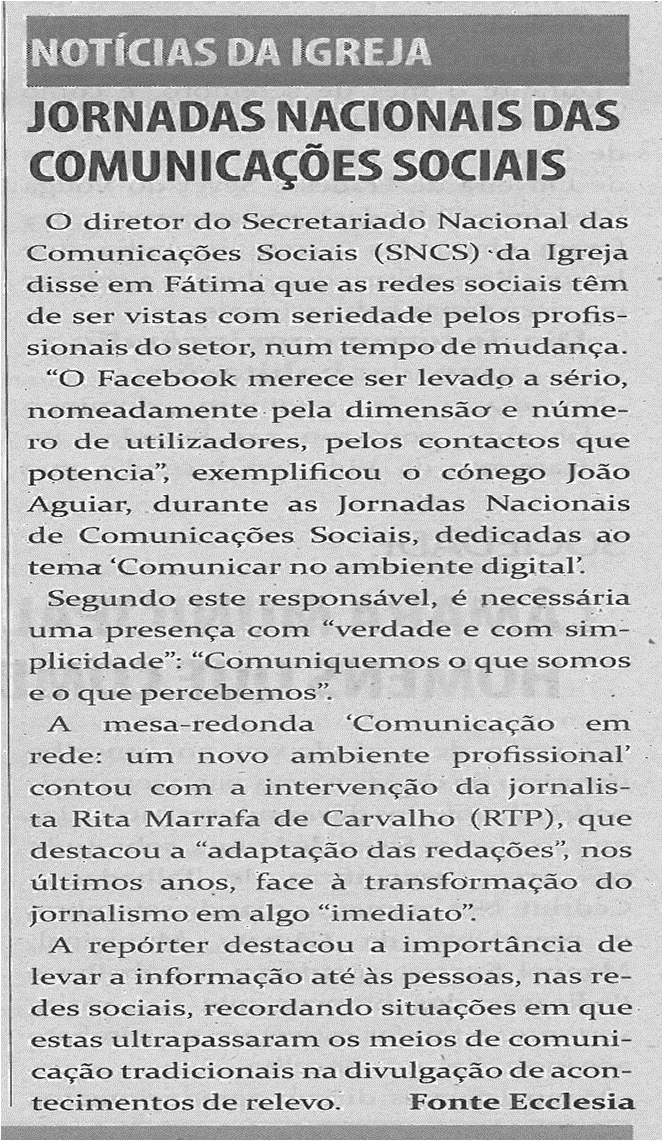TV-out13-p14-Jornadas Nacionais das Comunicações Sociais