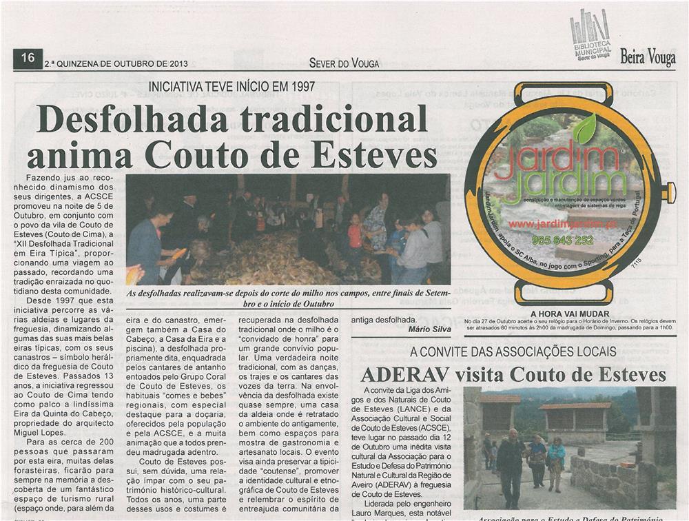 DA-28maio13-p16-Desfolhada tradicional anima Couto de Esteves
