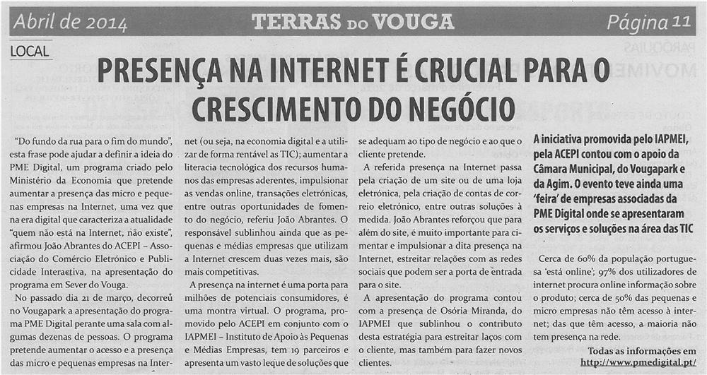 JPEG: TV-abr14-p11-Presença na Internet é crucial para o crescimento do negócio