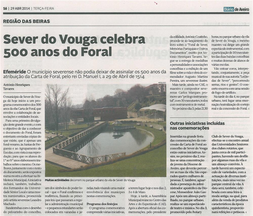 JPEG: DA-29abr14-p16-Sever do Vouga celebra 500 anos do Foral