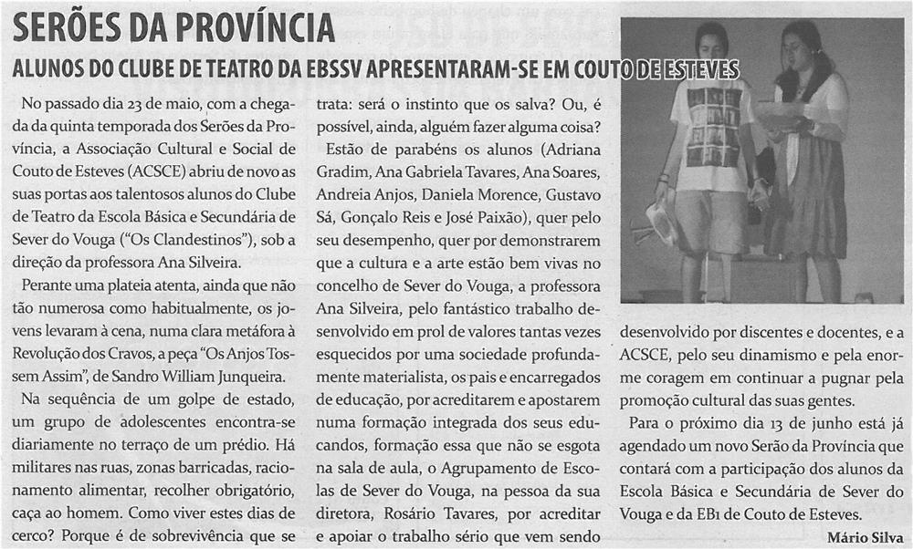 TV-jun14-p11-Serões da Província : alunos do clube de teatro da EBSSV apresentaram-se em Couto de Esteves - JPG