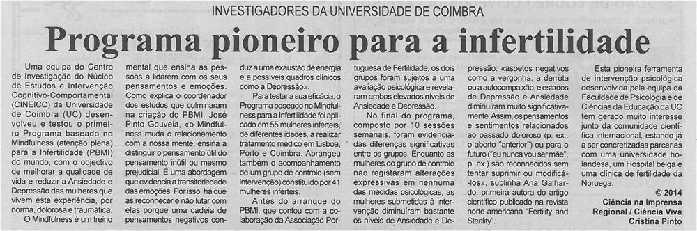 BV-1ªago'14-p13-Programa pioneiro para a infertilidade : investigadores da Universidade de Coimbra - JPG