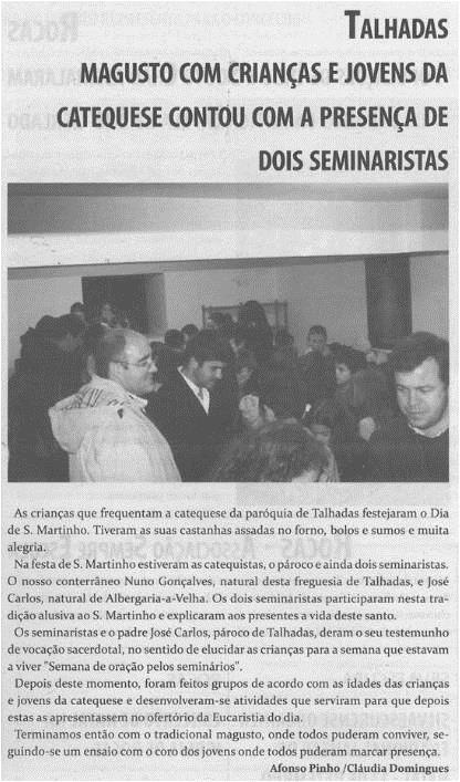 TV-dez.'14-p.7-Magusto com crianças e jovens da catequese contou com a presença de dois seminaristas.jpg