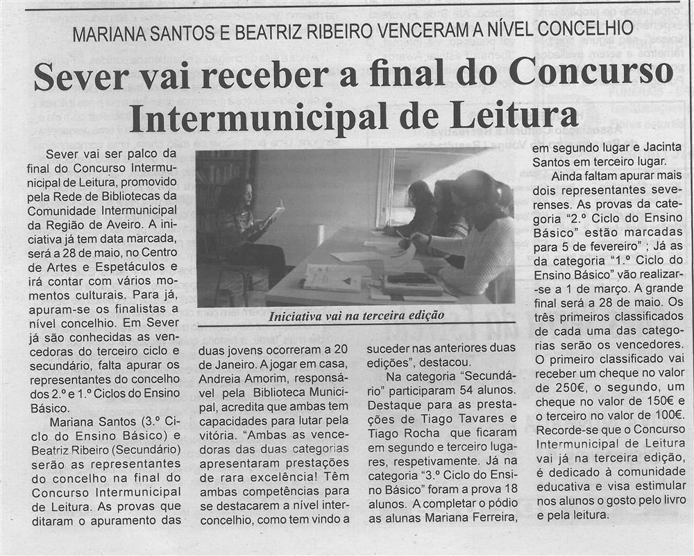 BV-1.ªfev.'16-p.4-Sever vai receber a final do Concurso Intermunicipal de Leitura : Mariana Santos e Beatriz Ribeiro venceram a nível concelhio.jpg