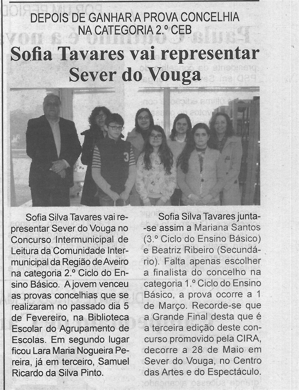 BV-2.ªfev.'16-p.5-Sofia Tavares vai representar Sever do Vouga : depois de ganhar a prova concelhia na categoria 2.º CEB.jpg